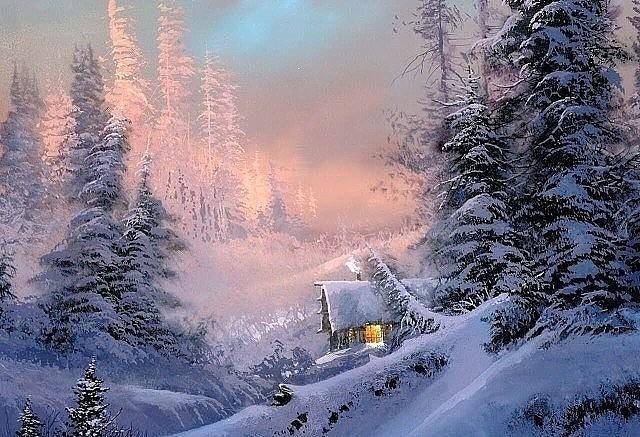 Зимняя живопись от художника Ted Blaylock. Кaкaя крaсотa!