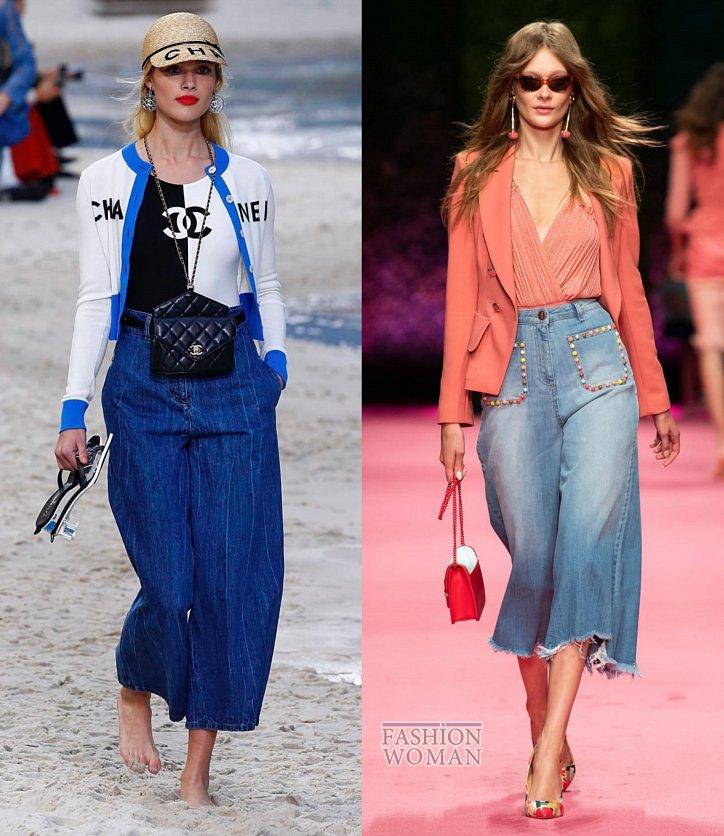 Модные джинсы весна-лето 2019 фото №6
