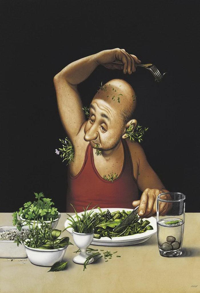 загадок является прикольные картинки вегетарианцев новым