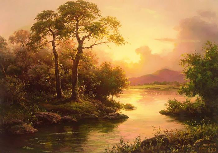 Неспешно утро за рекой восходит из глубин Вселенной: Hong Сheolung
