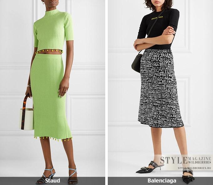 Вещь дня: трикотажная юбка гардероб,мода и красота,модные образы,одежда и аксессуары