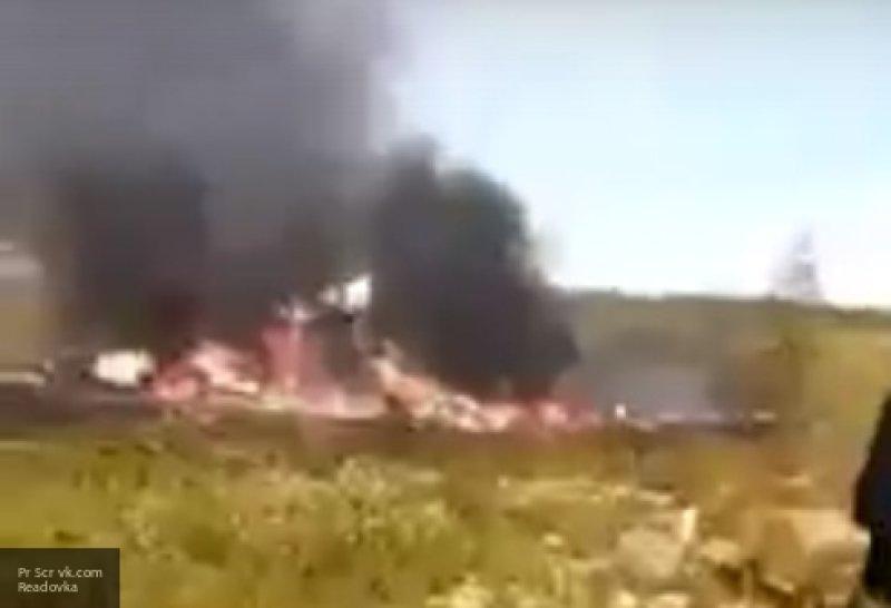 Появилось видео с места крушения Ми-8
