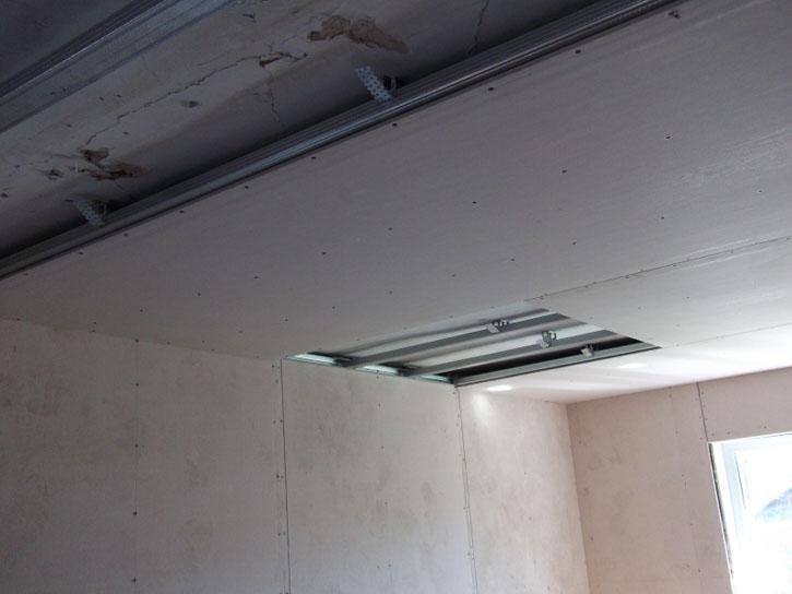 как делать парящий потолок из гипсокартона москва