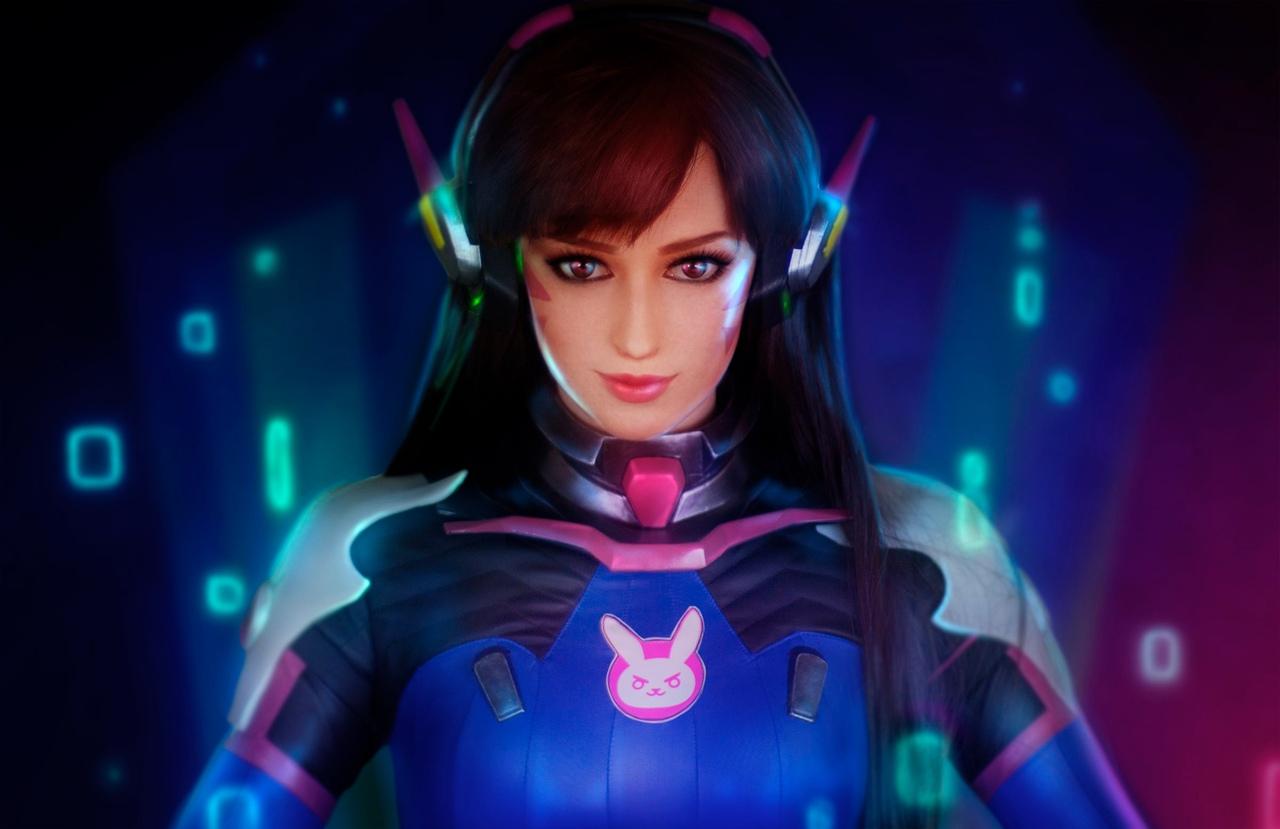 Overwatch - Косплей: Мария Давыдова  в образе прекрасной D.Va  Игры