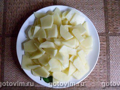 Песочный пирог с курицей, картофелем и черемшой, Шаг 05