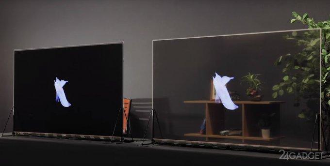 Panasonic начинает продавать первые серийные прозрачные OLED-дисплеи