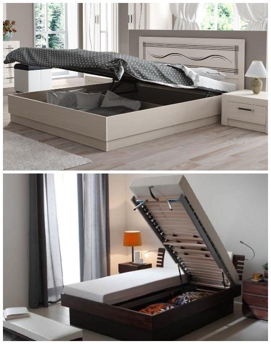 Различные варианты моделей кроватей с подъемным механизмом. | Фото: sl.dream-home-ideas.com.
