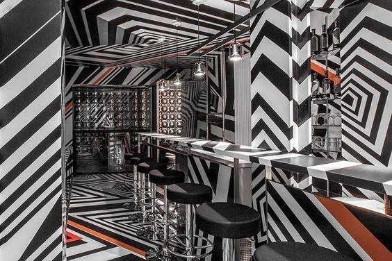 Немецкий бар в Нью-Йорке, с психоделическим твистом инсталляции, искусство, психоделика, сломай мозг, странное, художники