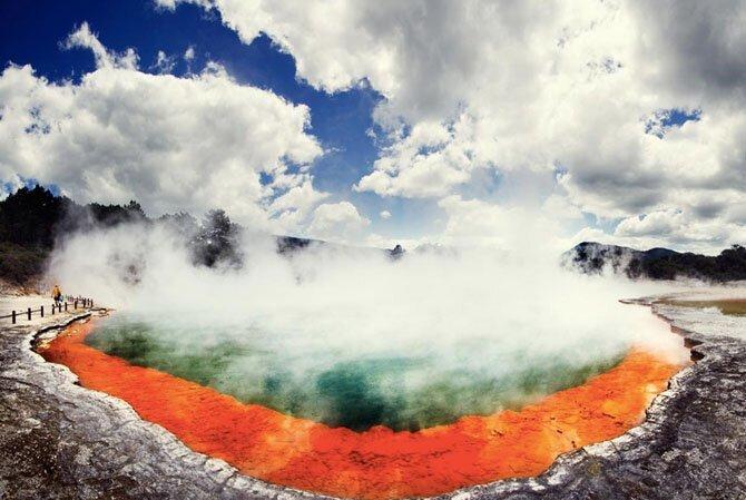 Уаи-О-Тапу, Новая Зеландия путешествия, факты, фото