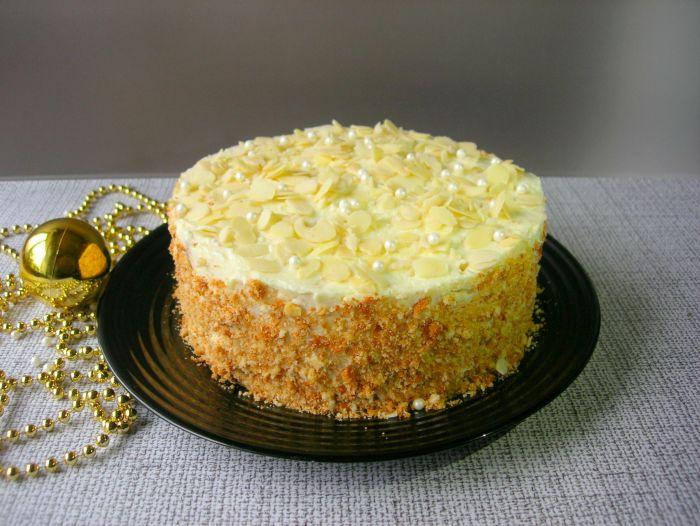 Торт «Пломбир» со вкусом мороженного кулинария,сладкая выпечка,торты