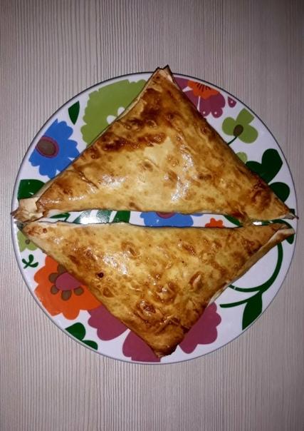 Конвертики из лаваша с картошкой, сыром и зеленью