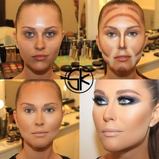 10 photo examples, how to transform with makeup