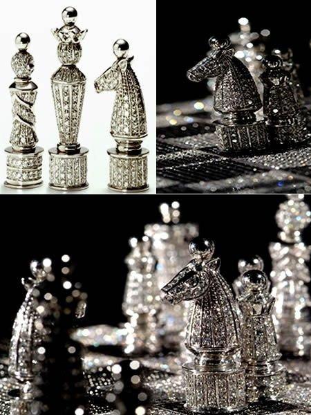 Бриллиантовые шахматы. 75.000 долларов искусство, красота, мастерство, невероятное, талант, шахматы