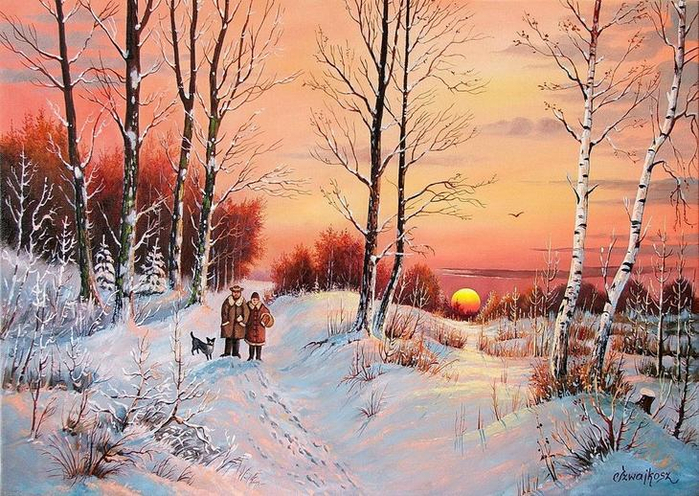 Польский художник Чеслав Швайкош