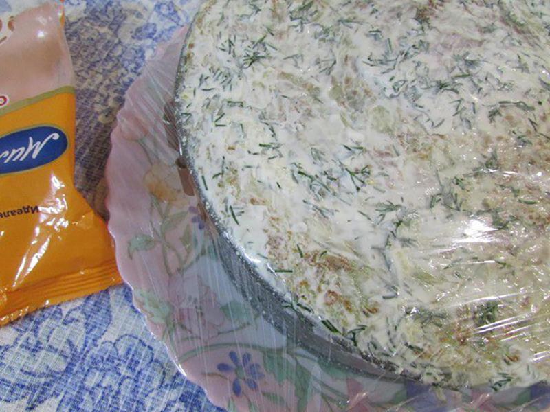 кабачковый торт с овощной начинкой