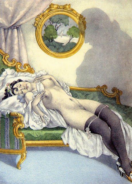 Этот итальянский иллюстратор начала XX века точно знал, что такое эротика! иллюстрация