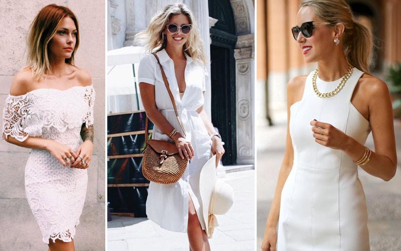 Летние платья белого цвета
