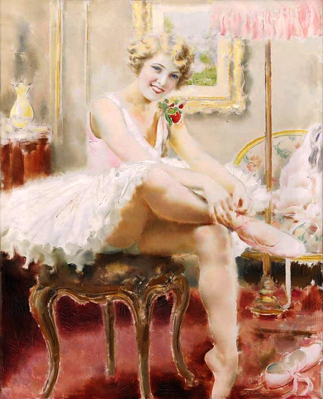 Прекрасные женщины художника Loukota Josef
