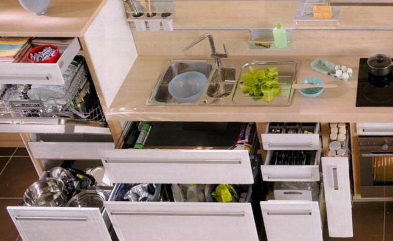 Умная кухня: как устроить уголок для чистящих средств?