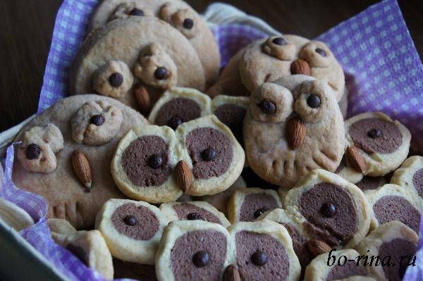 Песочное печенье «Совы» (2 варианта)
