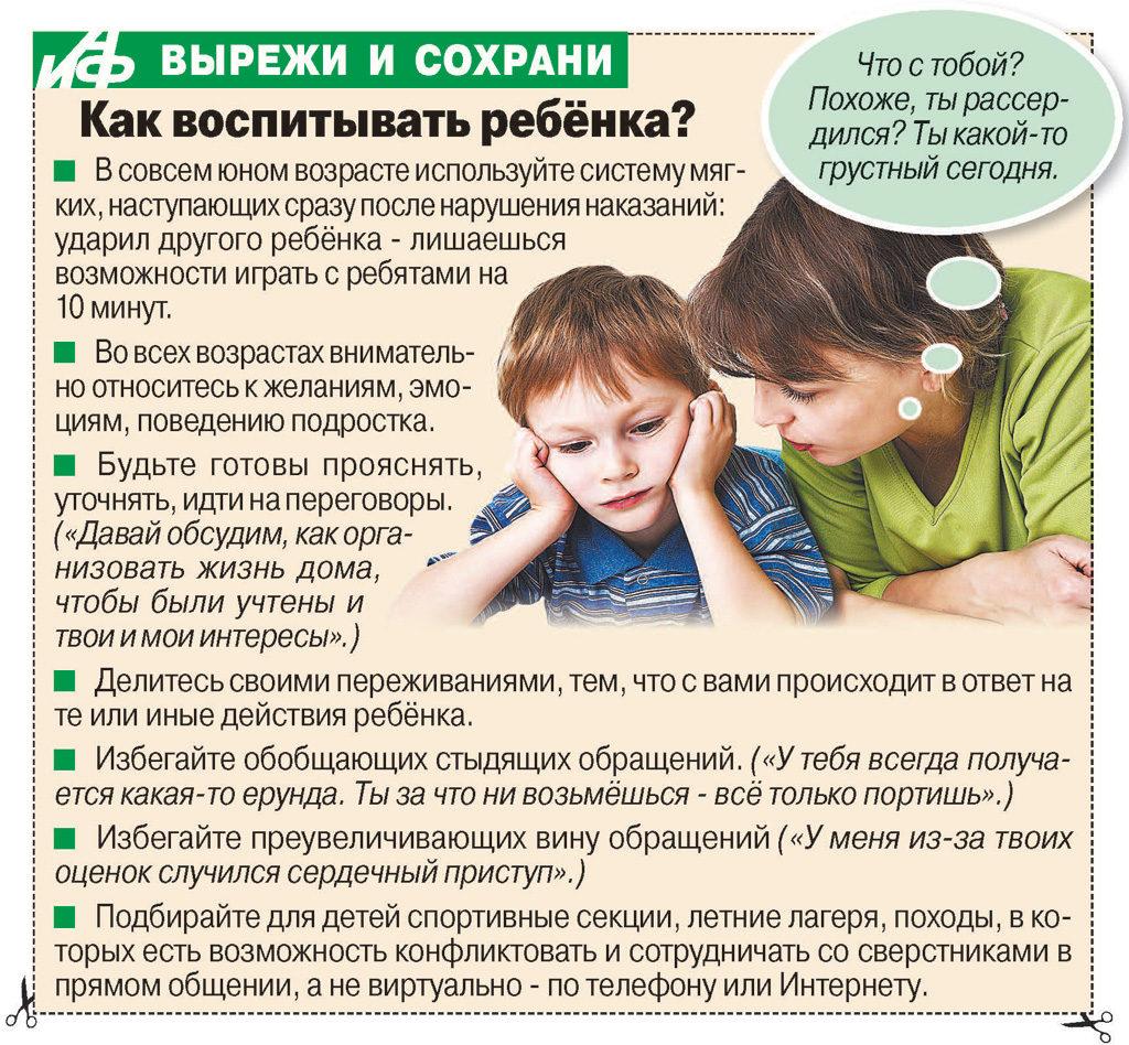 Советы психолога родителям
