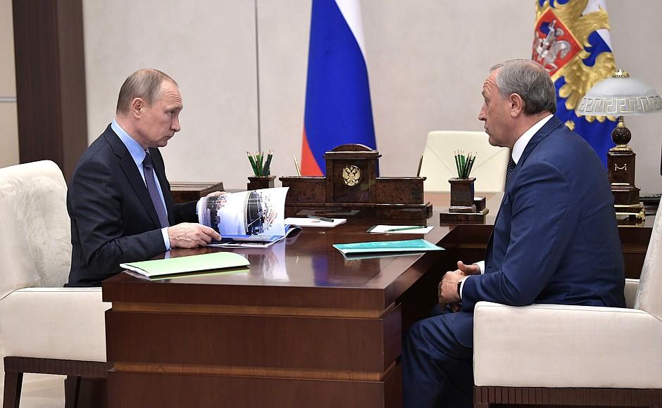 Встреча с исполняющим обязанности губернатора Саратовской области Валерием Радаевым