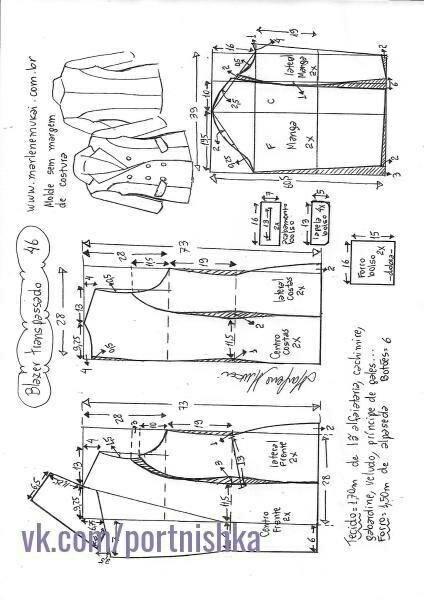 Выкройки объёмного женского жакета выкройка жакета,одежда,своими руками