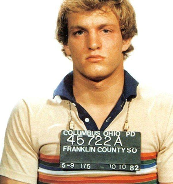 Вуди Харрельсон. 1982 год. Нарушение общественного порядка. арест, звезды, полиция, правонарушение