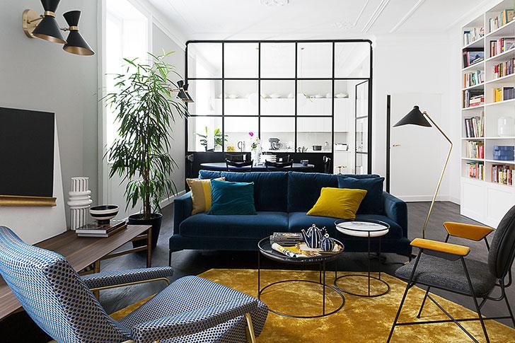 Модная и яркая квартира в Италии