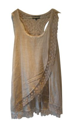 Could wear over or under another garment. Inspiration: Isabel Marant - flowy, feminine tank top.: