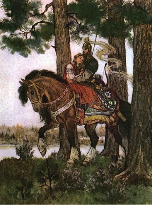 Руслан и Людмила на иллюстрации Николая Кочергина.
