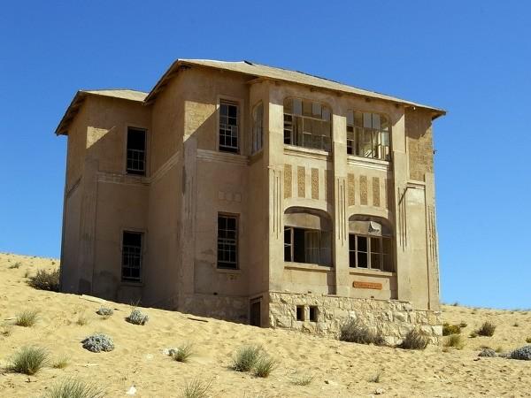 4. Пустынный город-призрак Колманскоп, Африка города-призраки, заброшенные города, загадки, тайны, фото