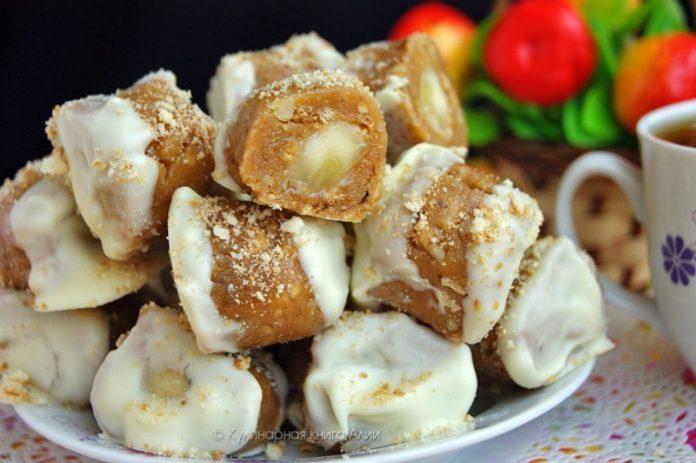 Конфеты с мягкой и сочной и ароматной банановой начинкой