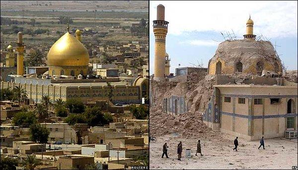 Аль-Аскария до атаки и после фото: Freerepublic.com