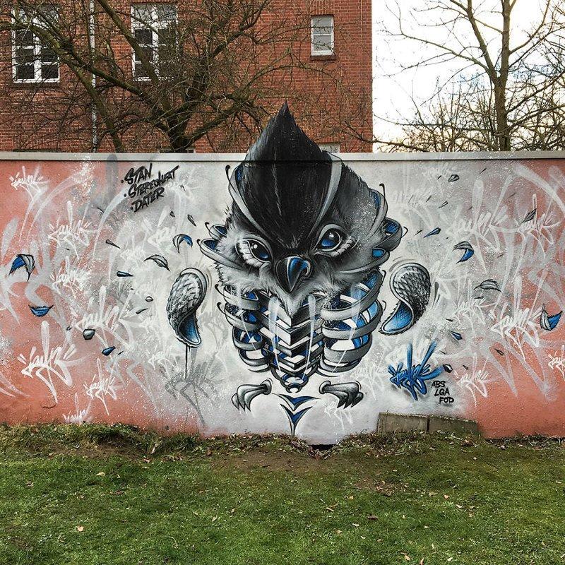 Этот немецкий художник поднимает стрит-арт на новый уровень