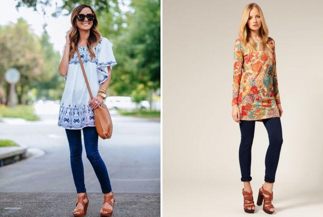 модные туники с чем носить