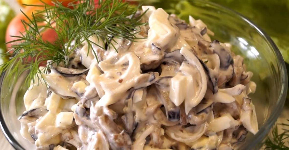Рецепт вкусного салата из баклажанов, яйца и лука