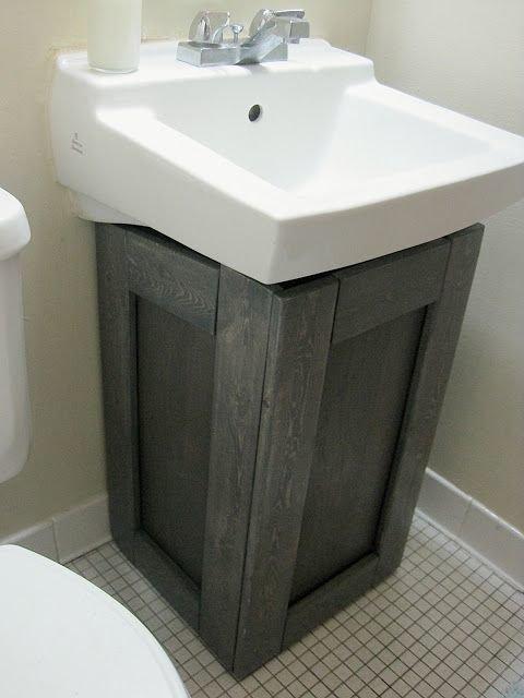 И на мебели можно сэкономить Фабрика идей, ванная, дизайн, сделай сам, тазики, фантазия