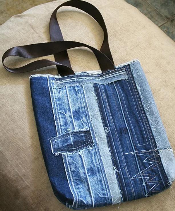Сумки и рюкзаки из старых джинсов своими руками