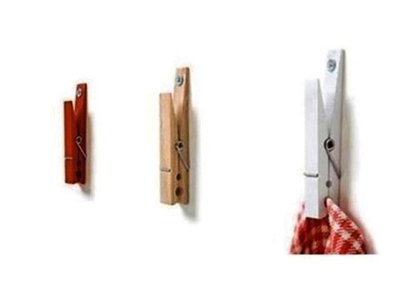 Нет зажима? используйте прищепки Фабрика идей, гениально, держатели, крючки, кухня, приспособления организация пространства