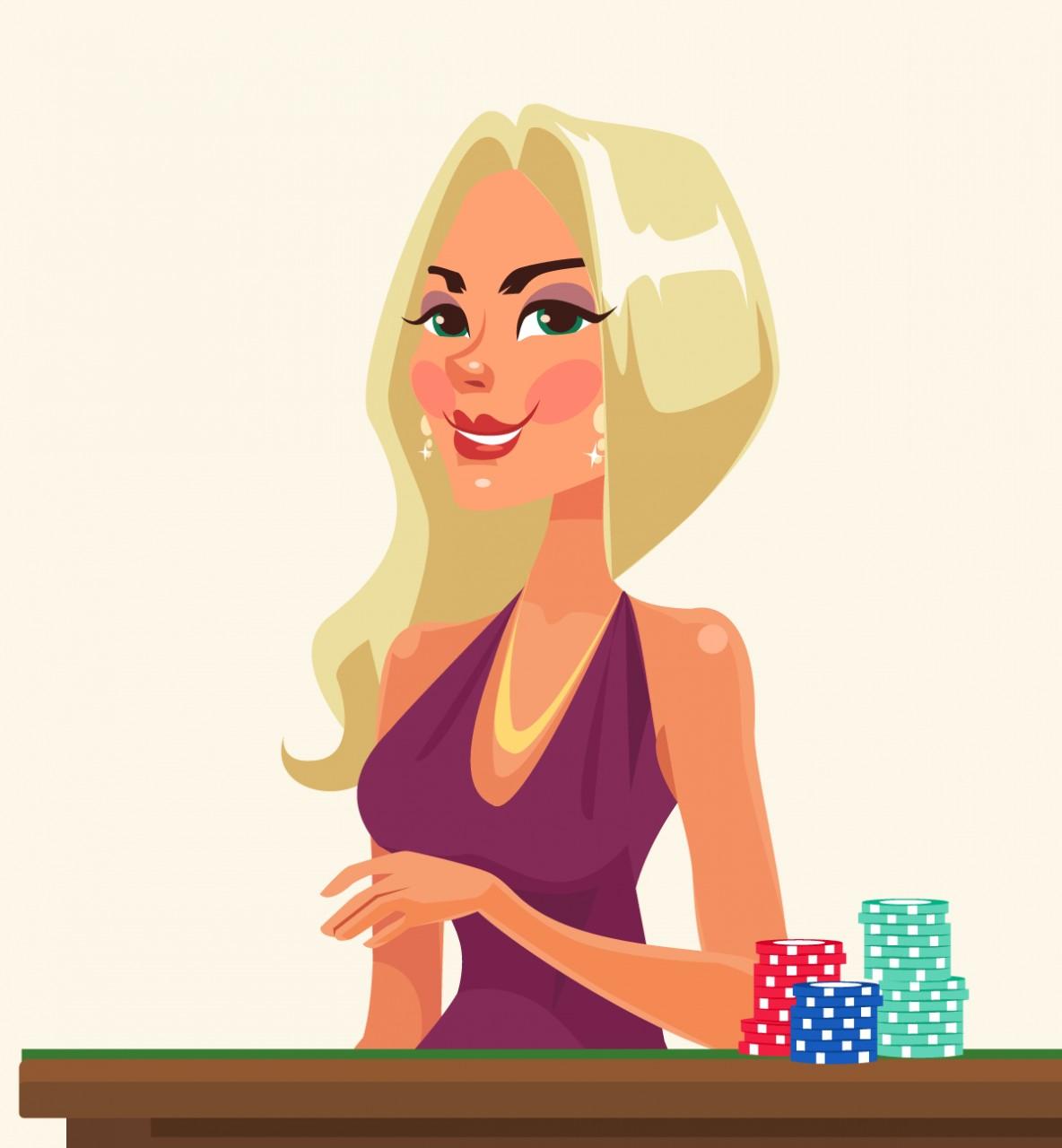 Анекдот о нереальном везении блондинки в казино