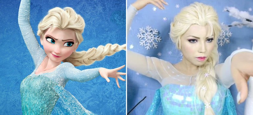 Девушка примерила образы 15 диснеевских принцесс