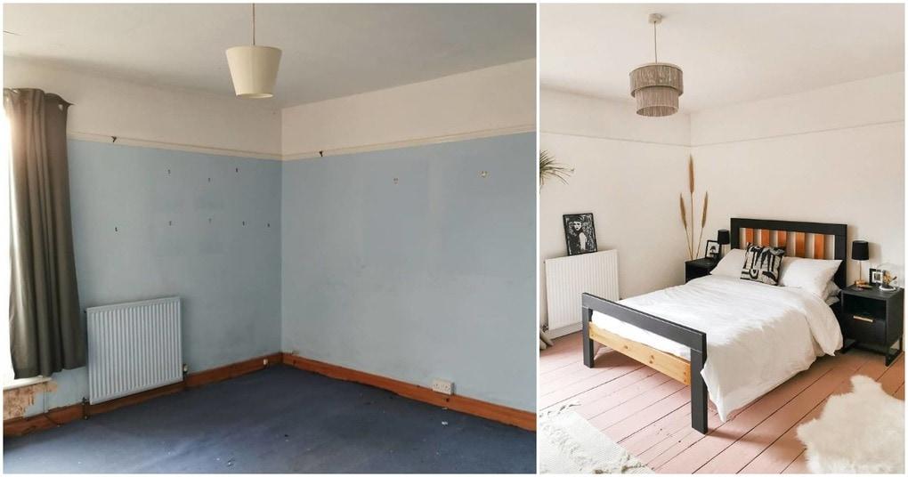 За 5 дней девушка сделала ремонт в комнате: трудно поверить, что это одно и тоже место