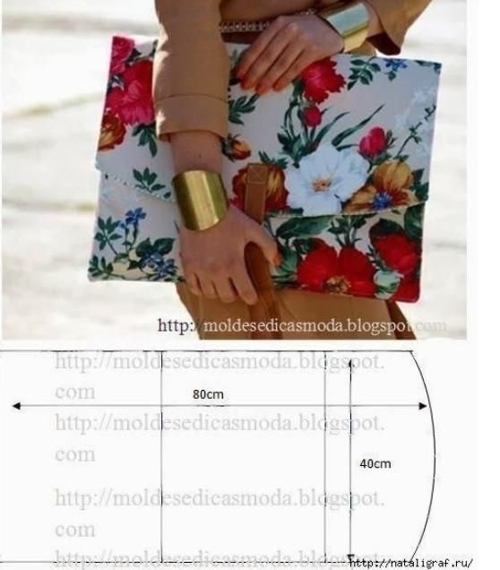 Выкройка маленькой сумки из кожи своими руками