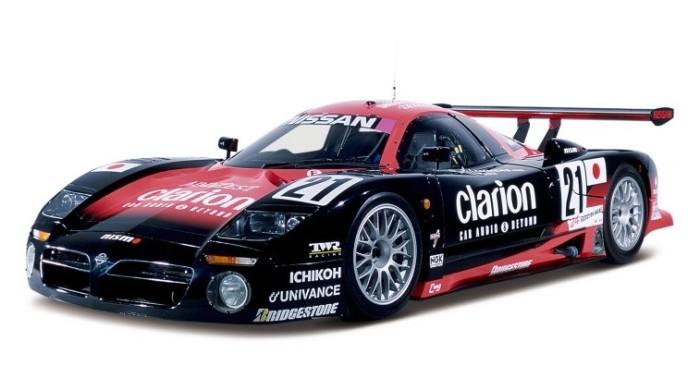 Nissan R390 GT1, участвовавший в 24-часовых гонках в Ле-Мане.