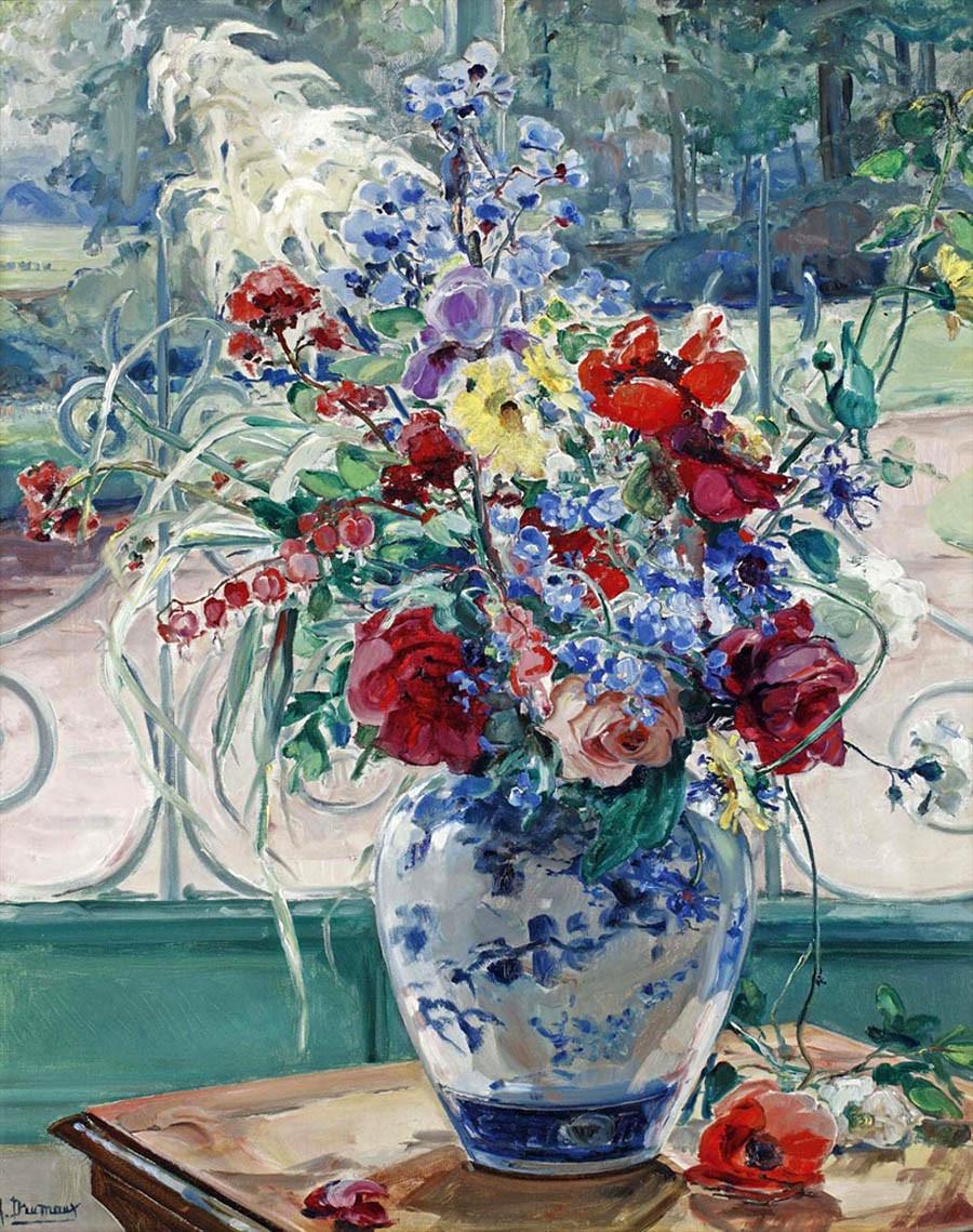 Цветов изящное сплетенье... Бельгийская художница Angelina Drumaux