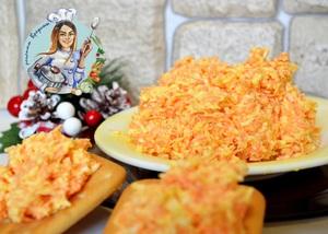 Закуска морковь с сыром.