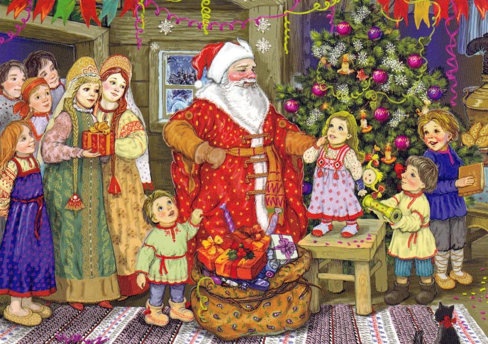 Открытки, картинки новый год в россии для детей