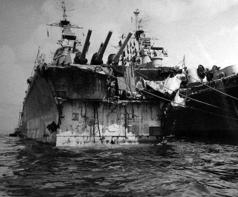 Как американцы собирали свой крейсер «Питтсбург» после тайфуна по всему Тихому океану