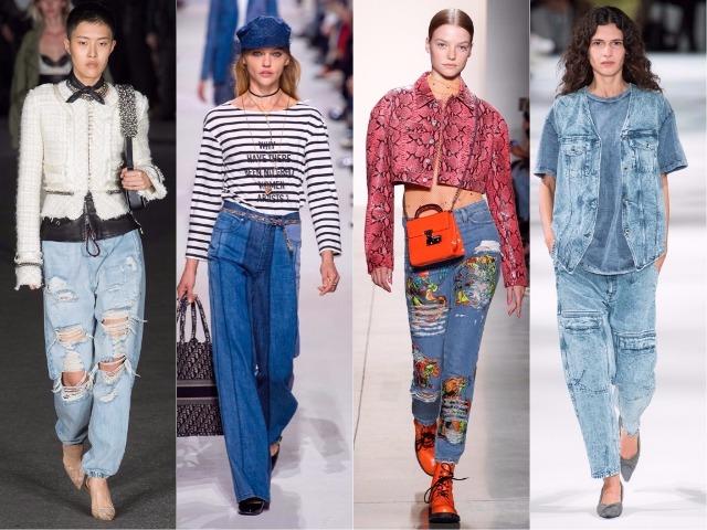 Модные джинсы сезона весна-лето 2018